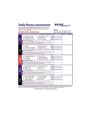 Body For Life Workout Pdf : workout, Printable, Forms, Template, SignNow