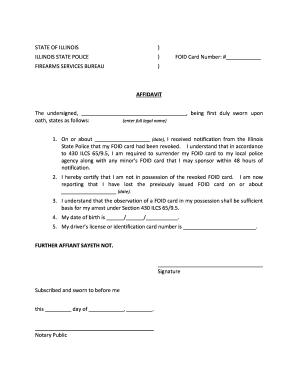 Illinois Foid Card Application Printable : illinois, application, printable, Illinois, Application, Printable, Template, SignNow
