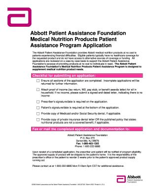Abbott Patient Assistance Program : abbott, patient, assistance, program, Abbott, Patient, Assistance, Program, Printable, Template, SignNow