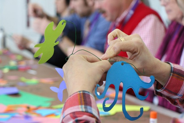 Art And Science Join Hands Signpost