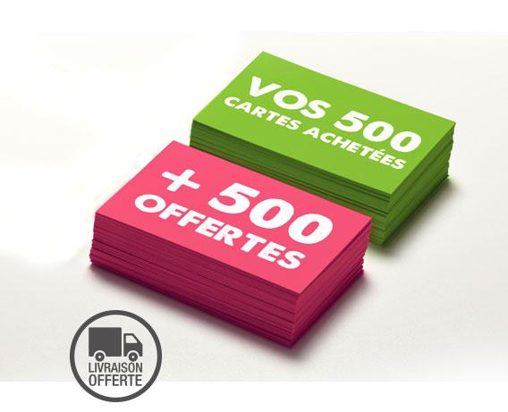 Offre 500 Cartes De Visites Achetees