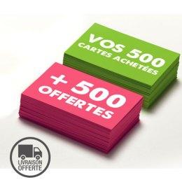 Offre 500 cartes de visites achetées - 500 cartes de visites offertes
