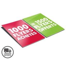 1000 flyers A5 achetés, recevez 1500 flyers offerts