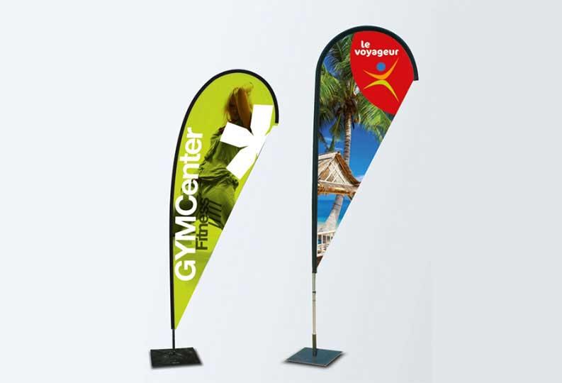 drapeau publicitaire beach flag signpub. Black Bedroom Furniture Sets. Home Design Ideas
