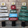 Wood christmas tree each sign board is hand painted and distr