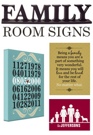 canvas prints for living room home designs ideas family artwork | signs by andrea