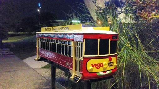 Sculpture of Vigo Streetcar art project