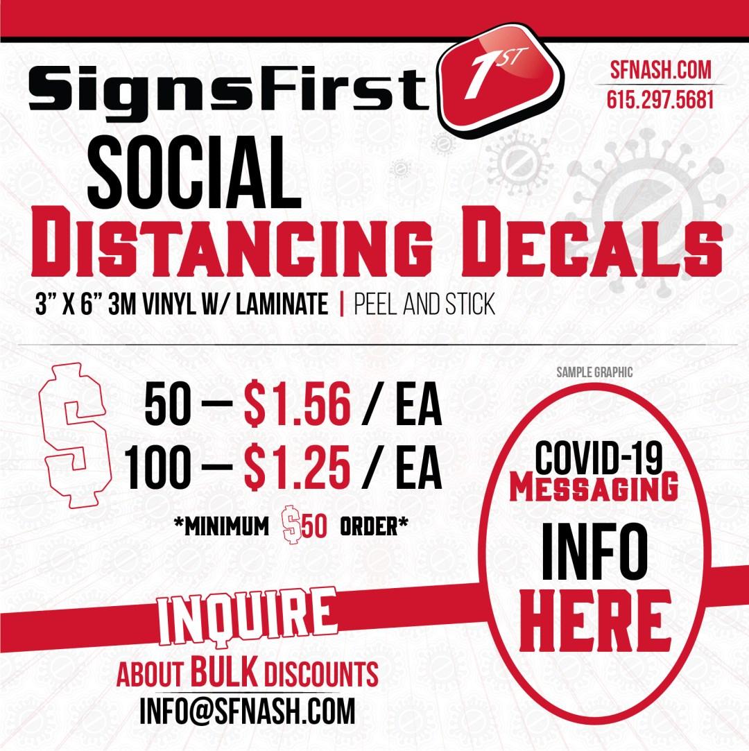Social Distancing Decals