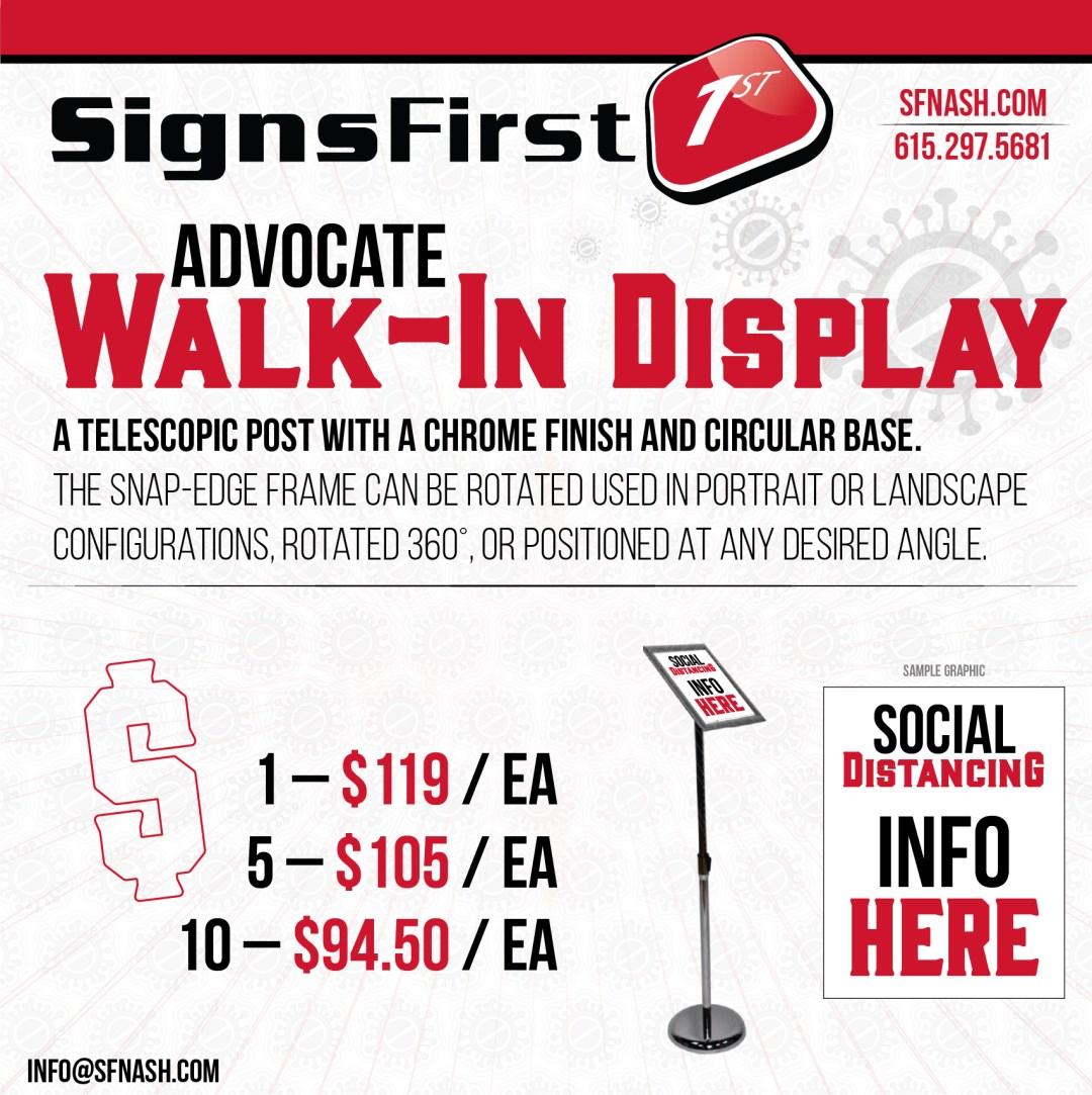 Advocate Walk-In Display
