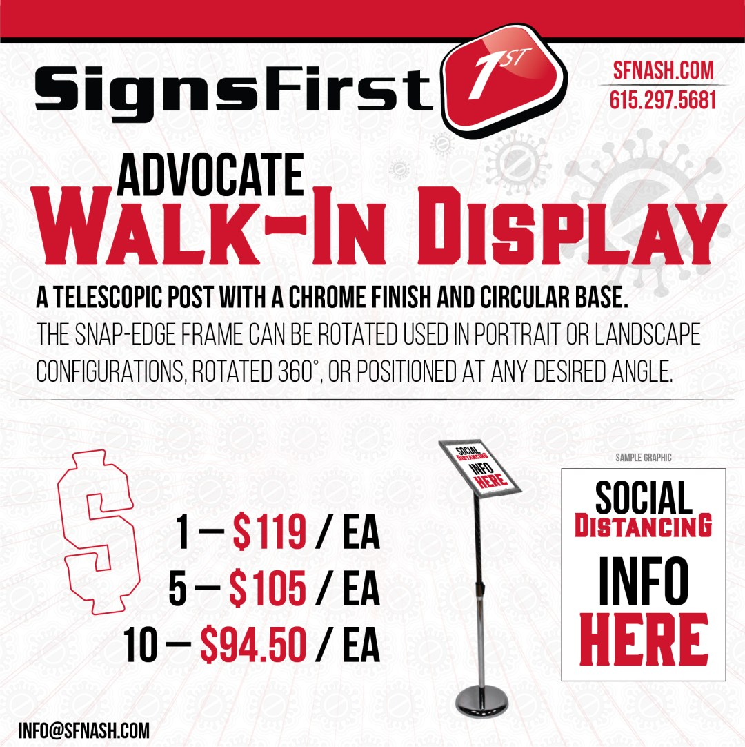 Advocate Walk-In Display