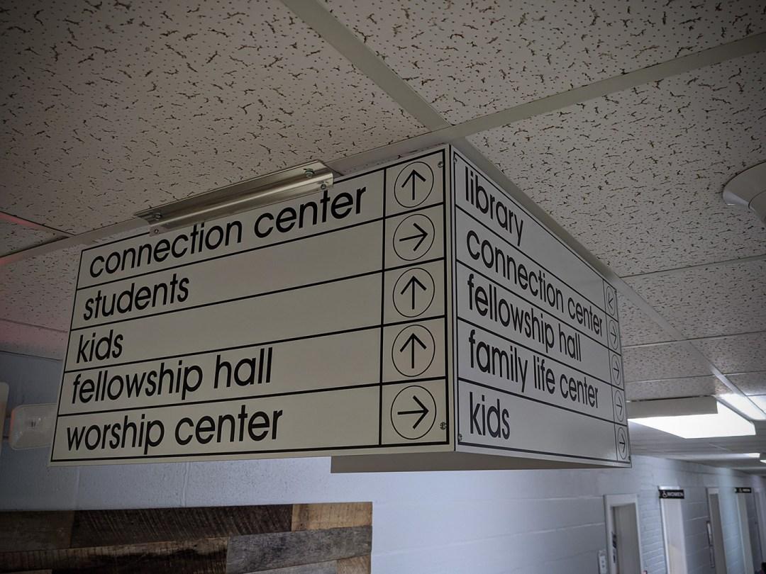 Donelson First Baptist_Inside Wayfinding