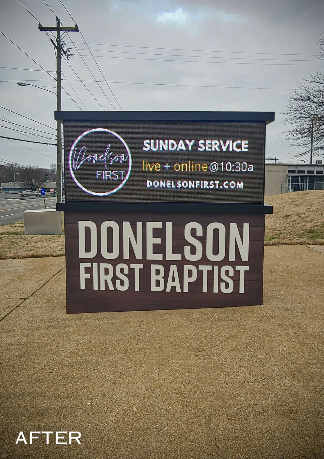 Donelson First Baptist_Monument_after-2