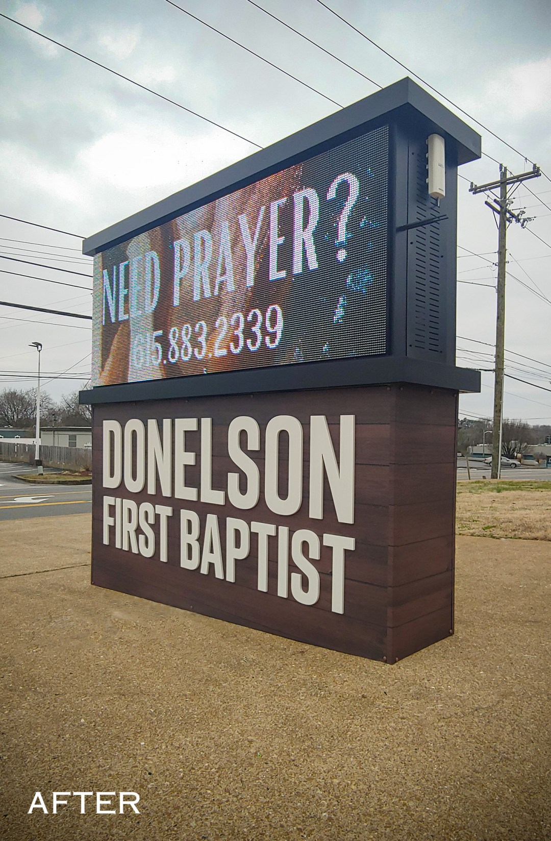 Donelson First Baptist_Monument_after