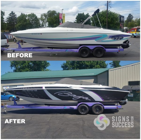 Pontoon Boat Striping Graphics - Year of Clean Water