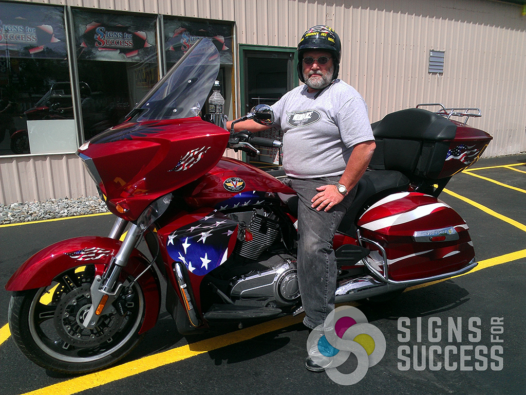 Custom All-American Motorcycle Graphics - Signs for Success