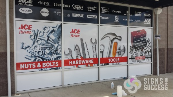 Window Wrap Showcases Products And Brands - Signs Success