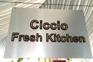 Brushed Aluminum Sign with Routed Ultraboard Letters