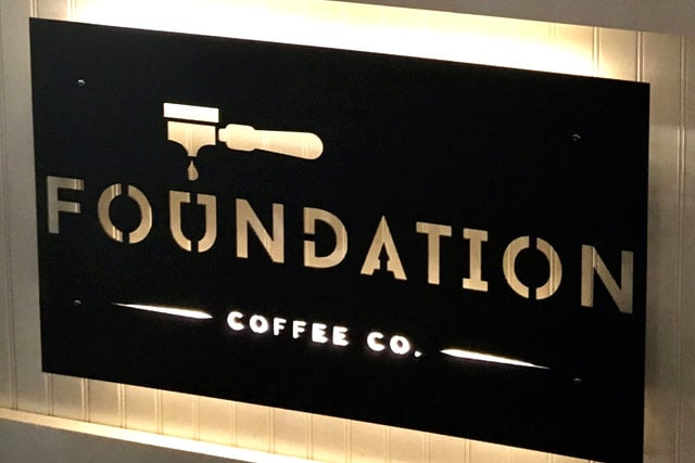 Coffee Shop Custom Routed Edge-Lit Sign