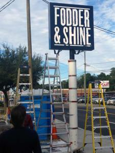 Pole Sign Installation