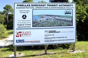 PSTA Site Pole Sign