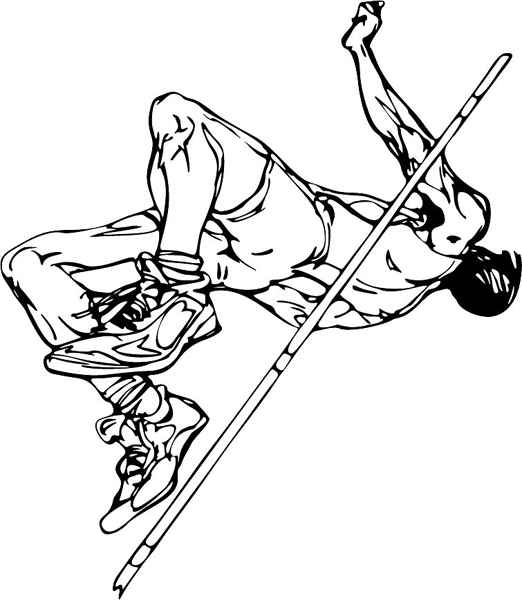 Track And Field Coloring Coloring Pages