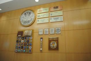 San Diego County artifact lobby display