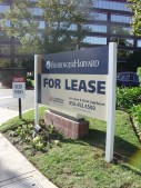 Post and panel For Lease sign