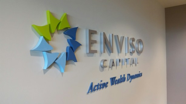 Flush mount thick acrylic wall sign