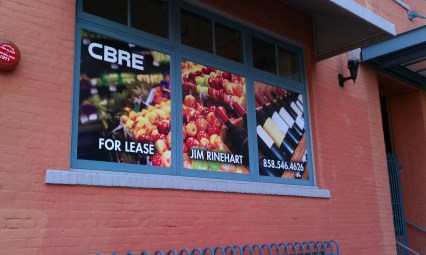 Opaque vinyl window graphics