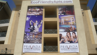 30' tall apartment banners