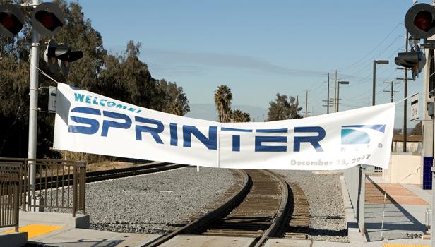 Sprinter ceremonial break-through banner