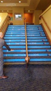 Carpet stair graphics