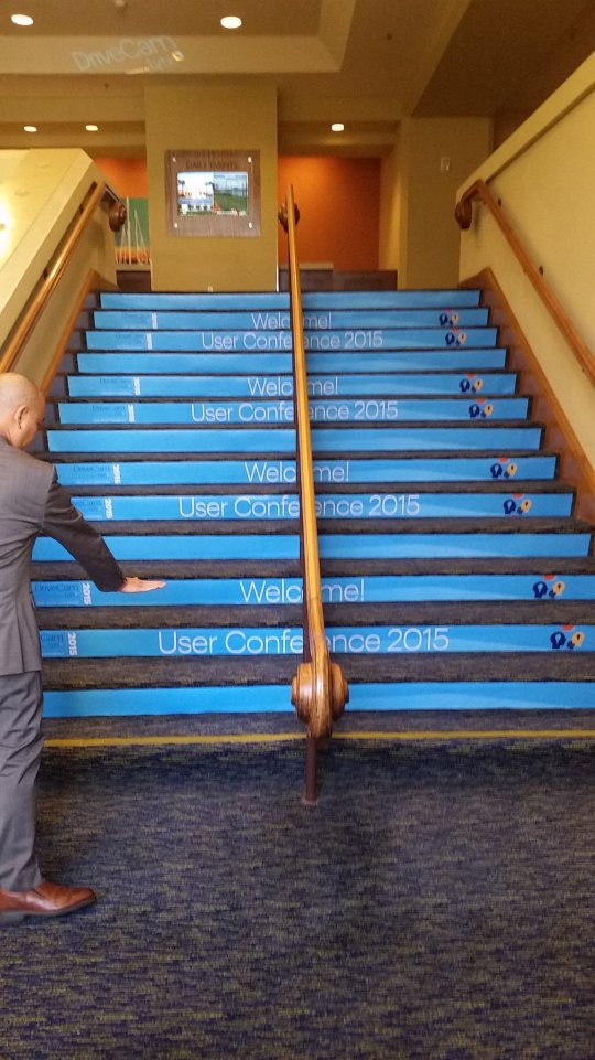 Carpet stair graphics