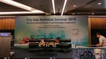18 x 8ft City Gas backdrop printing