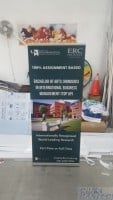 2 x 0.85m Pull up banner for ERC institue