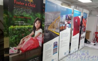 2 x 0.85m Pull up banners for PPG Industries exhibition