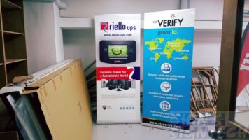 2 x 0.85m Roll up banners for Exhibition order by oversea companies