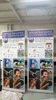 2 x 0.85m roll up banners - NSC