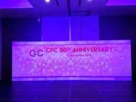 24 x 8ft CP 50th Anniversary Stage Backdrop (2)