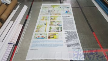 75 gsm polyester fabric with graphics for exhibition decoration (2)