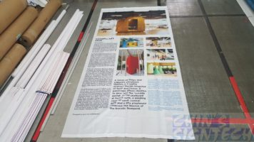 75 gsm polyester fabric with graphics for exhibition decoration