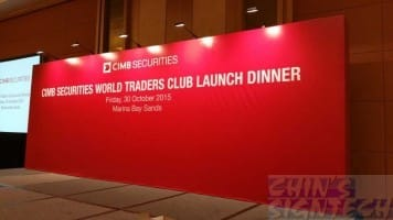 CIMB secrurities 7 x 3m step and repeat logo backdrop