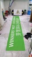 Cloth banner for soccer club