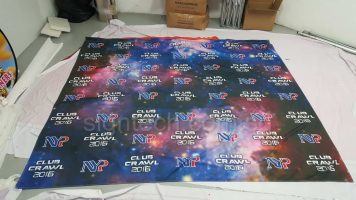 Fabric banner for photo booth