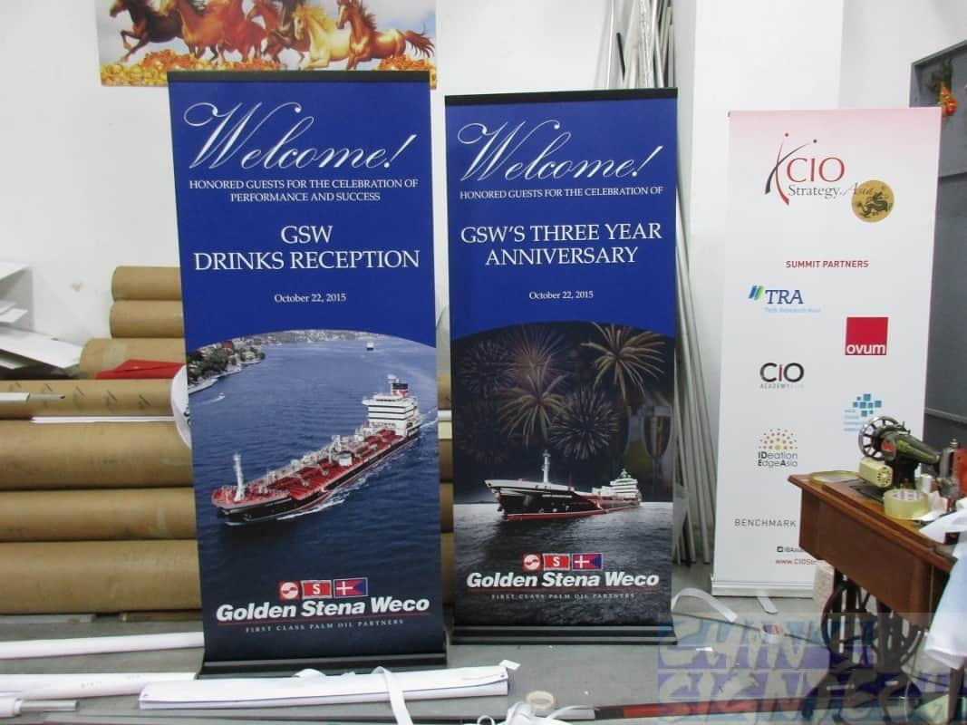 Premium Pull Up banners For Golden Stena Weco