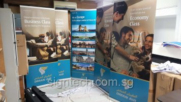 Roll up banners for OMAN AIR