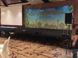 Stage backdrop for Hari Raya festival event