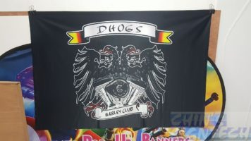 4.5 x 3ft Fabric banner on glossy 240 GSM DHOGS - HARLEY CLUB