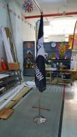 4.8 x 3ft Army Flag on sliver flag pole- 75gsm_1