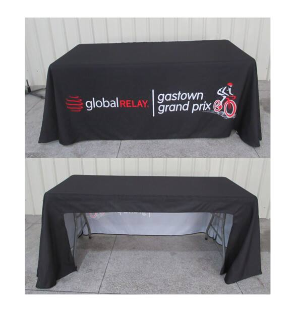 Trade Show Table Cloth – 3 sided covers ( Open Back 10cm )